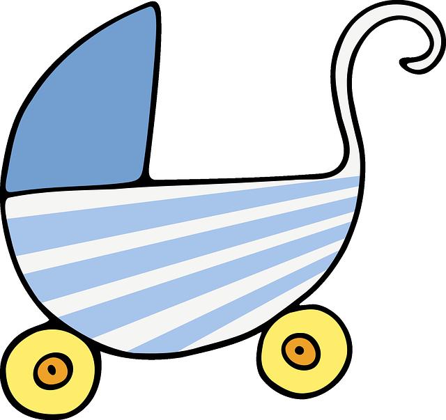 kočárek ilustrace