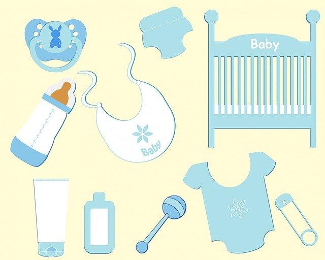 potřeby pro dítě ilustrace