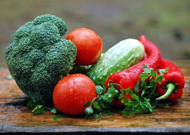 omytá zelenina