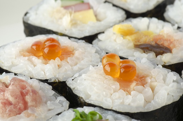 válce sushi
