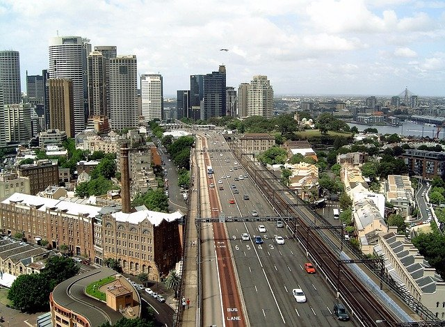 město z výšky